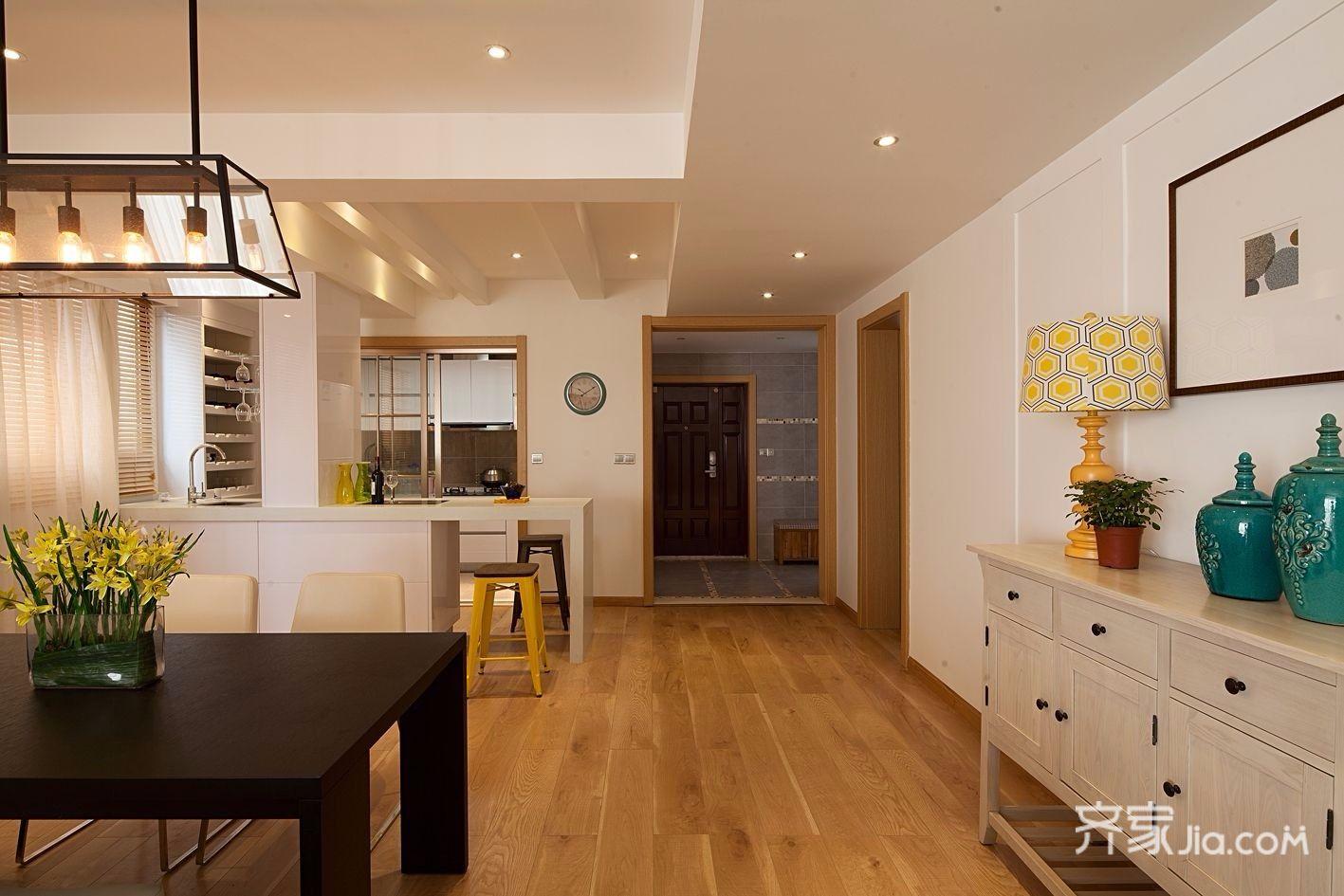 130平现代简约三居厨房装修效果图