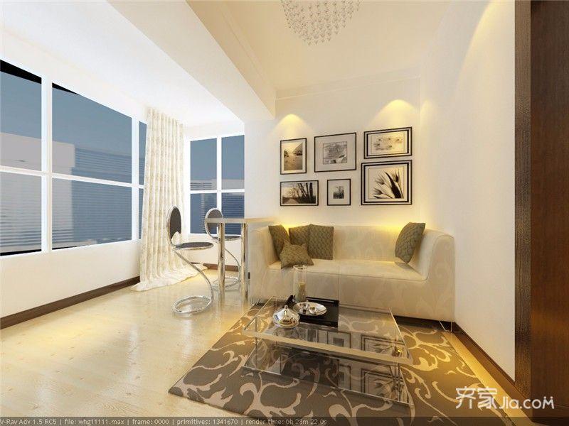 45㎡一居室小户型沙发背景墙装修效果图