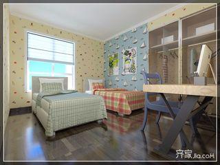 现代欧式风格四房装修儿童房效果图