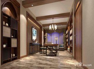东南亚风格别墅书房装修设计效果图