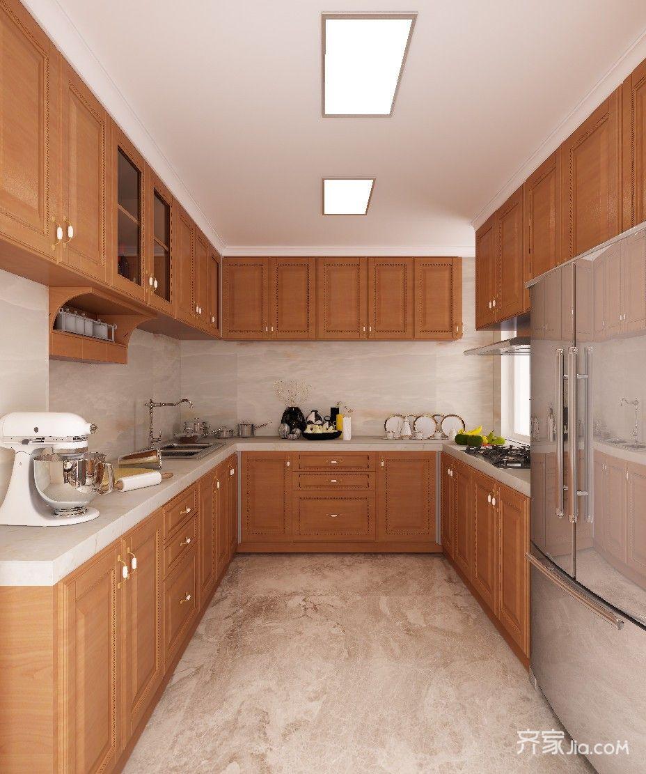 大户型中式别墅厨房装修效果图
