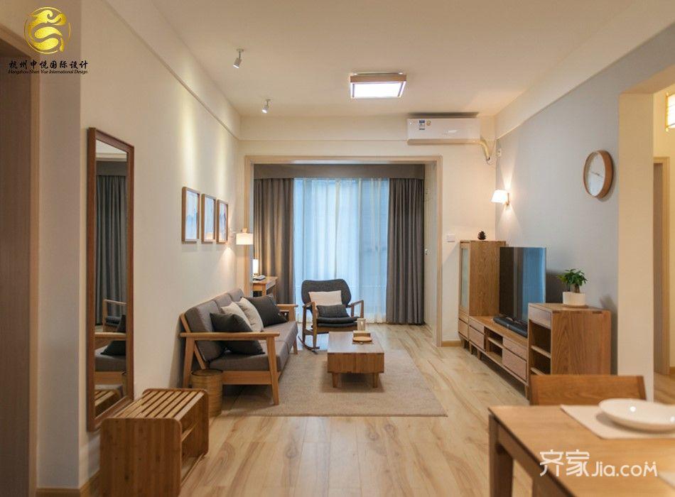 130平米日式风格客厅装修效果图
