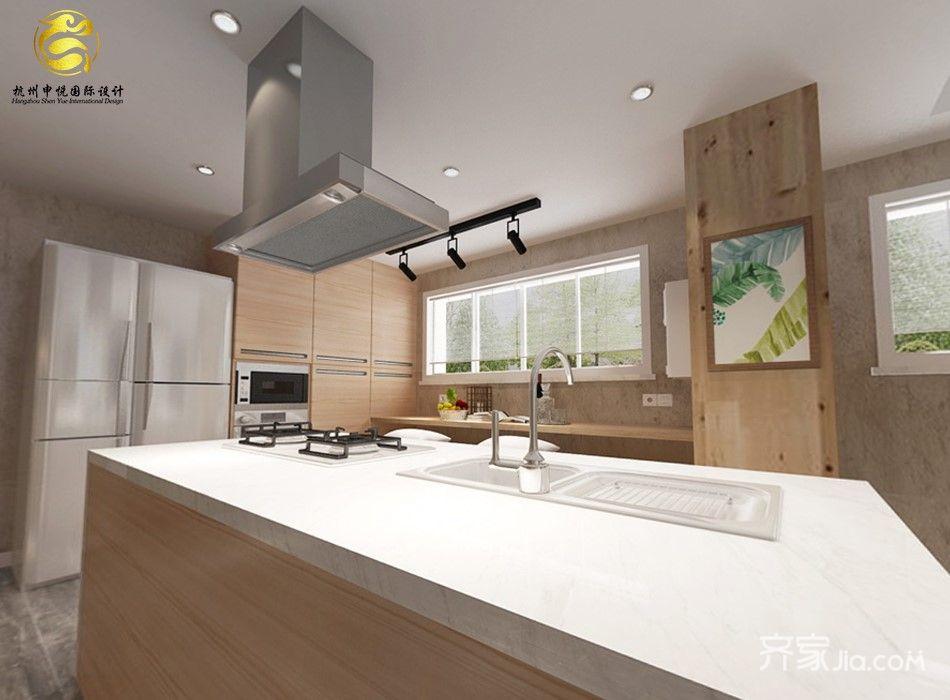 135平简约风格三居厨房装修效果图