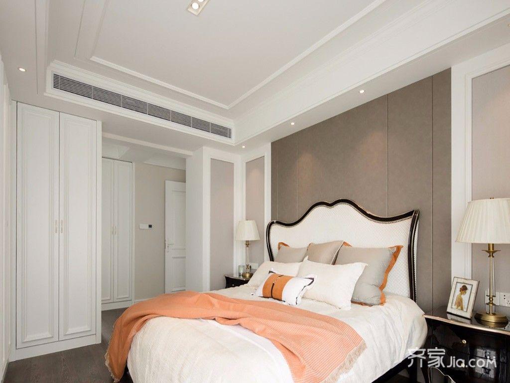 140平美式风格四房装修卧室吊顶效果图