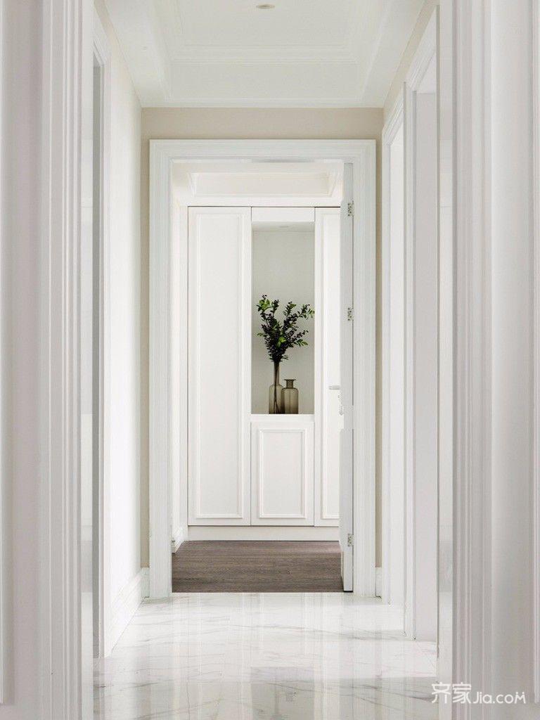 140平美式风格四房装修走廊端景