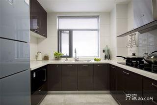 90㎡中式风格三居厨房装修效果图