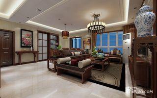 140平中式风格三居装修效果图