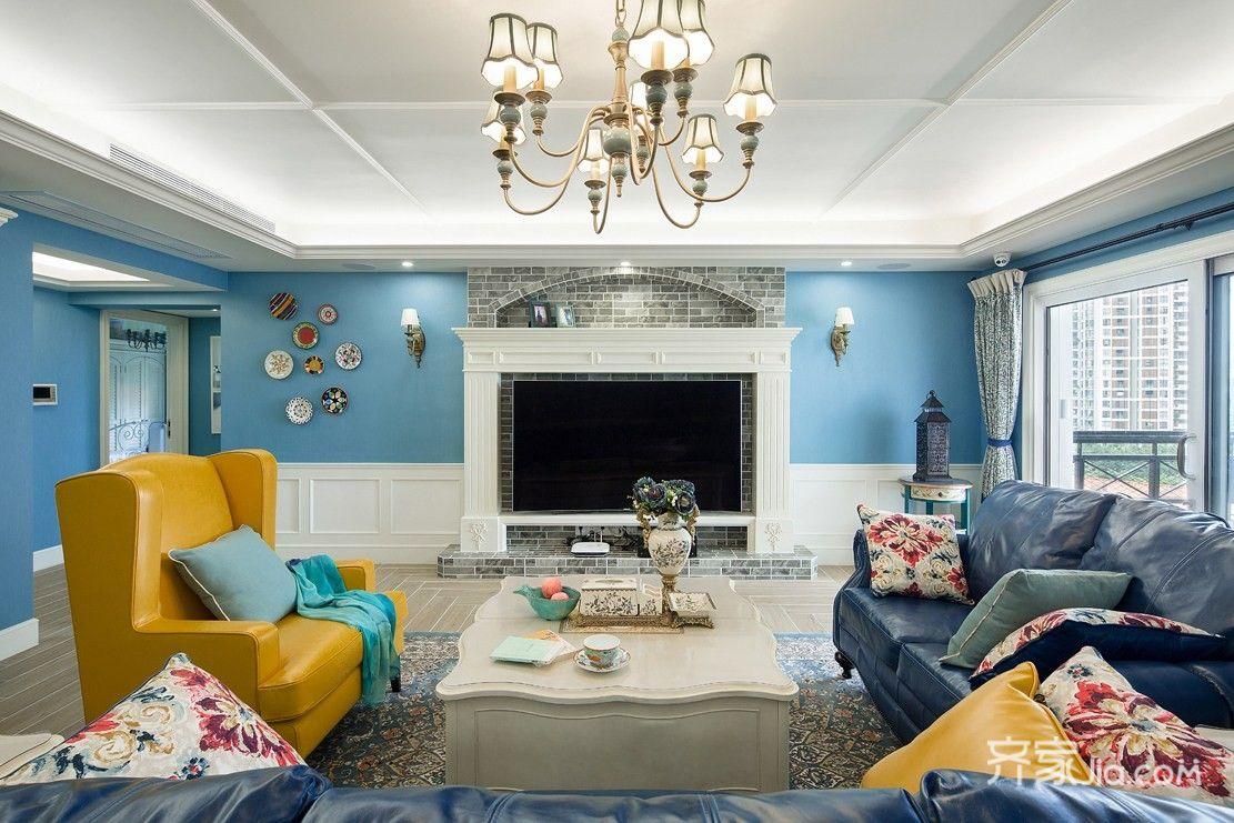 150平米美式风格客厅装修效果图