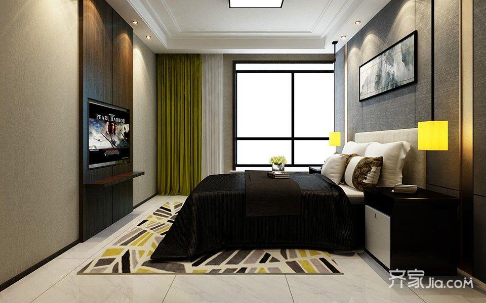 132平港式风格二居装修效果图