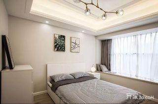 大户型现代简约四房装修卧室布置图