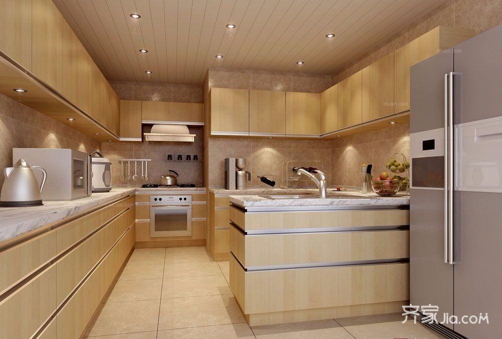 现代简约风格两居室厨房装修效果图