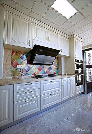 三居室欧式风格装修厨房构造图