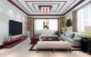 135平新中式风格客厅装修效果图