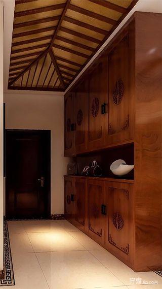 大户型中式风格玄关装修设计效果图