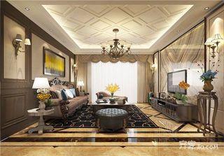 166平美式风格四房装修效果图