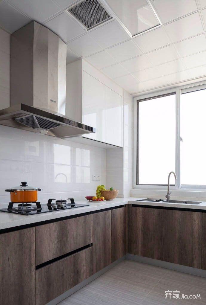 100平简约风格二居装修厨房布局图
