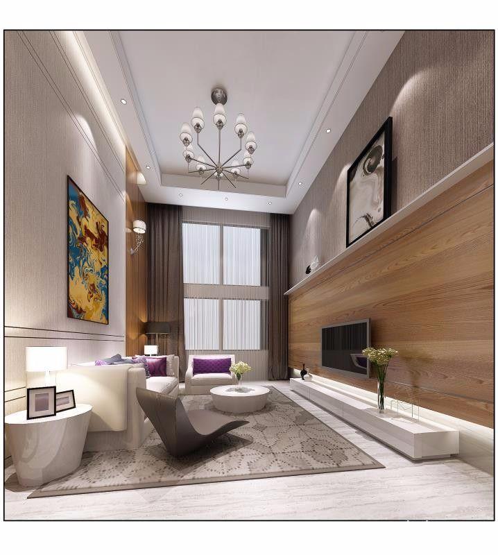 大户型简约风格四房装修电视背景墙效果图