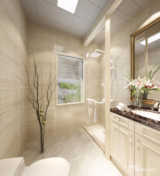 126㎡欧式风格三居装修浴室柜效果图