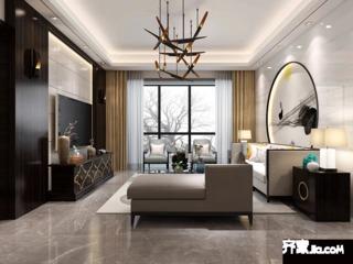 90平现代风格二居装修效果图