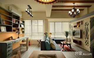 美式田园二居室装修设计图