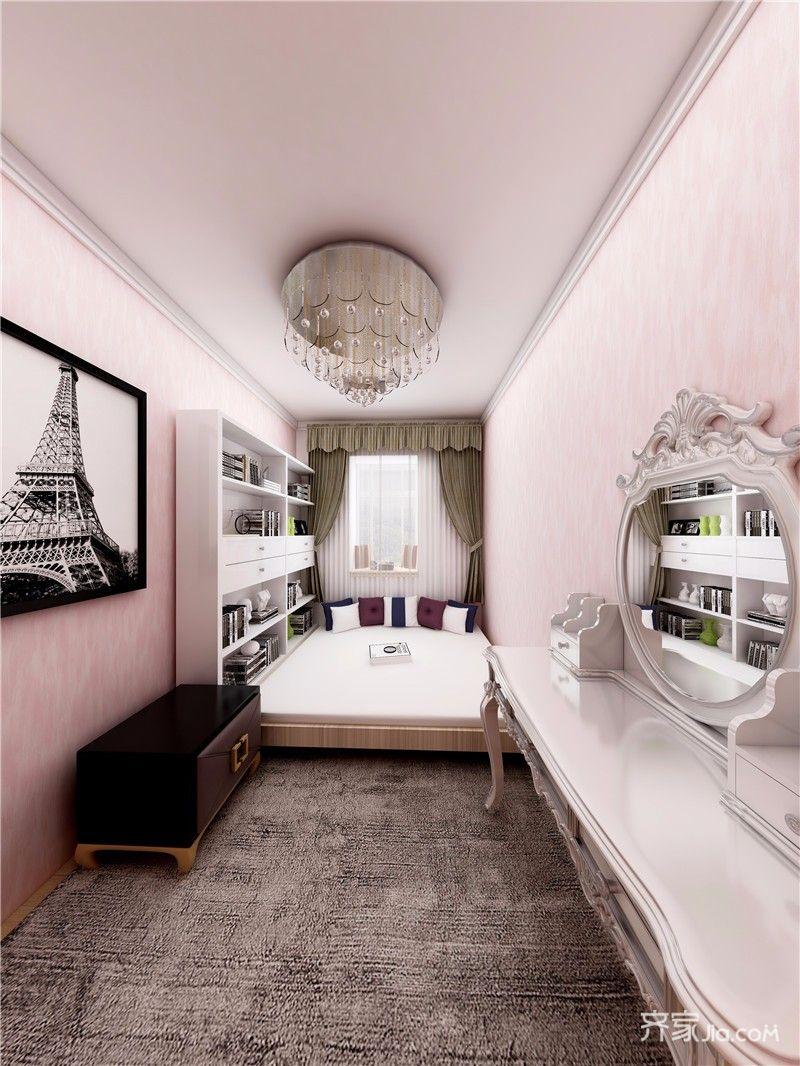 小户型两居室简约装修榻榻米卧室效果图