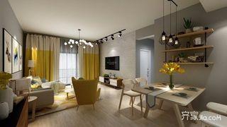 北欧宜家风格两居装修效果图