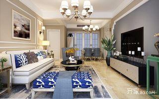 118平美式风格三居装修效果图