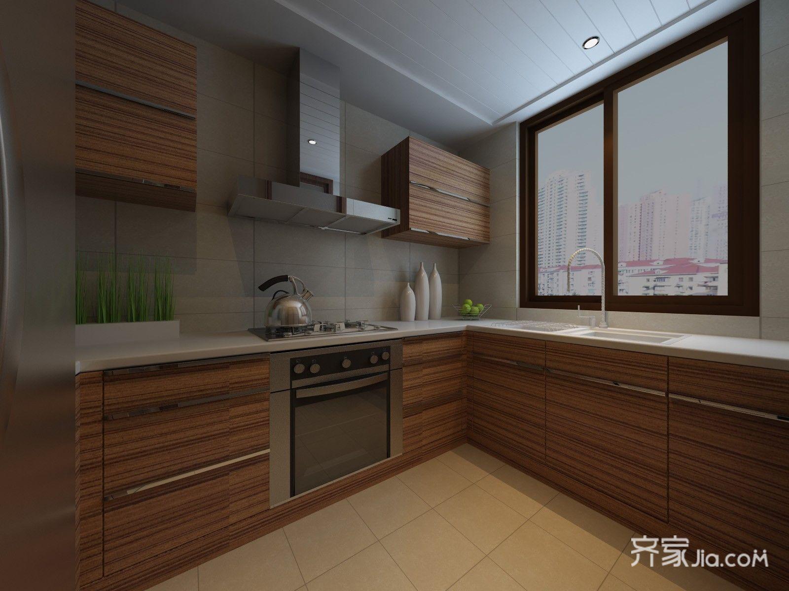 现代简约风格三居厨房设计效果图