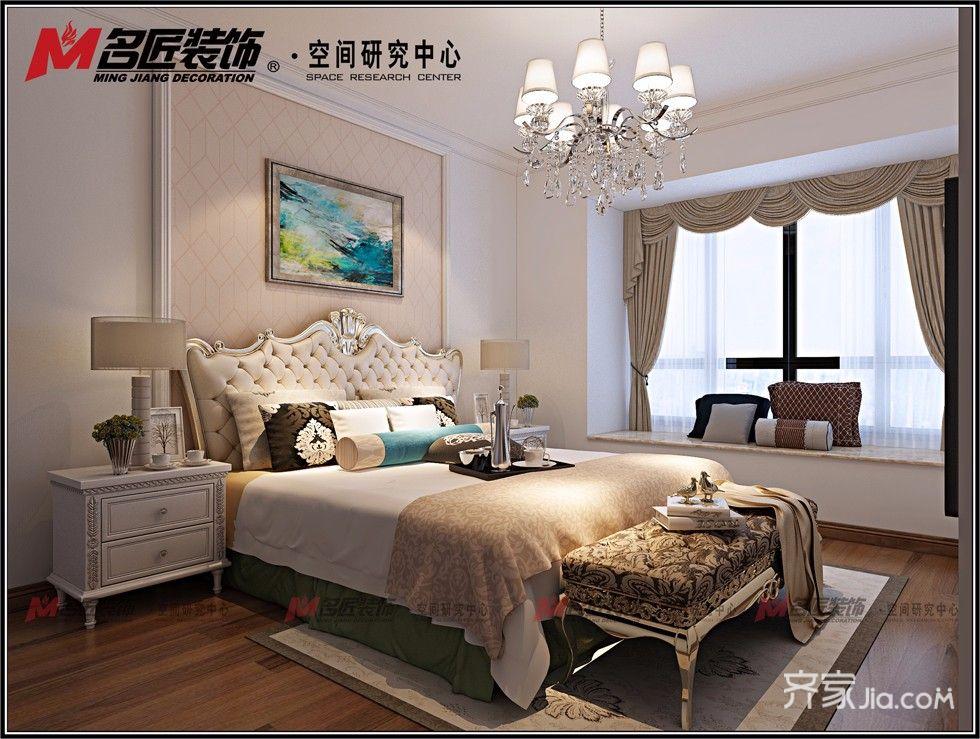 现代风格三房两厅装修卧室效果图