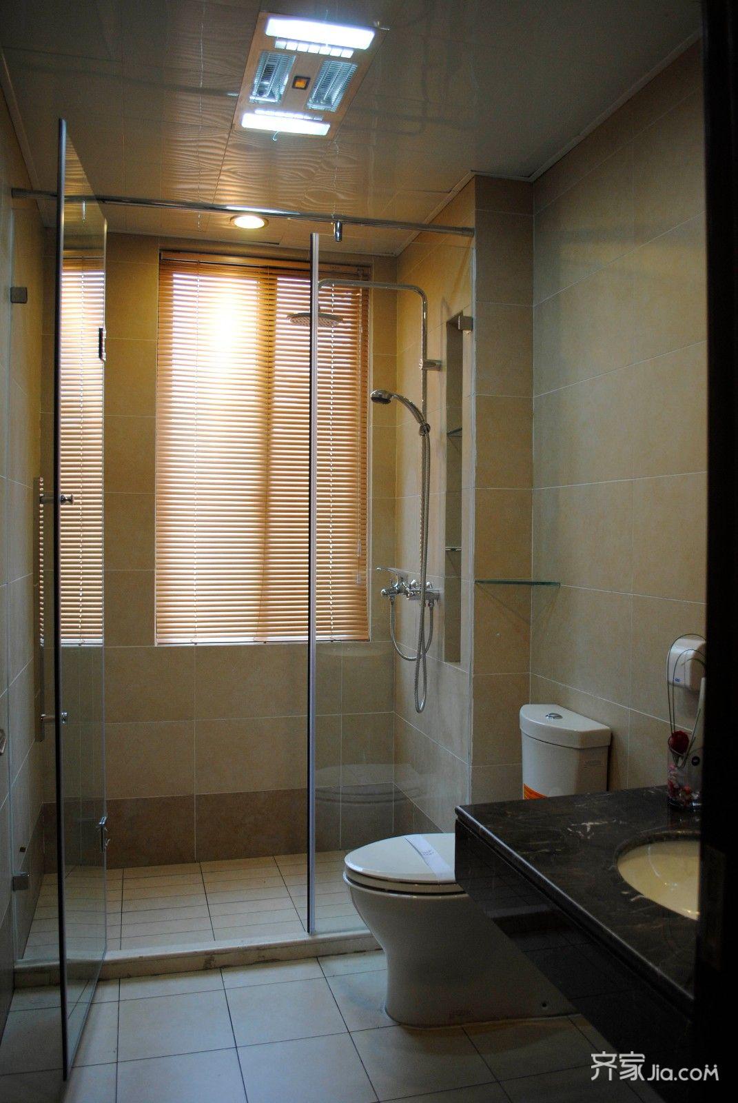 现代简约风格三居装修卫生间实景图