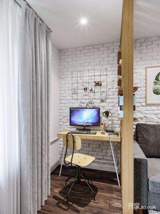 两居室宜家风格装修工作区布置图
