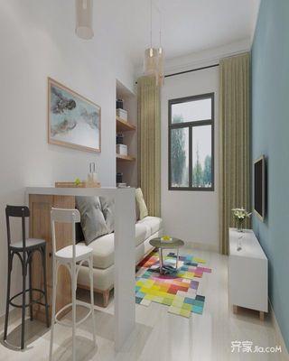 简约青年公寓装修客厅效果图
