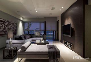 110平现代简约三居装修沙发布置