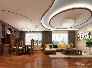 120平中式三居客餐厅装修效果图
