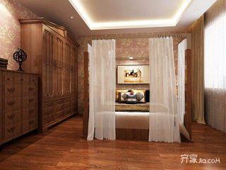 120平中式三居卧室装修效果图