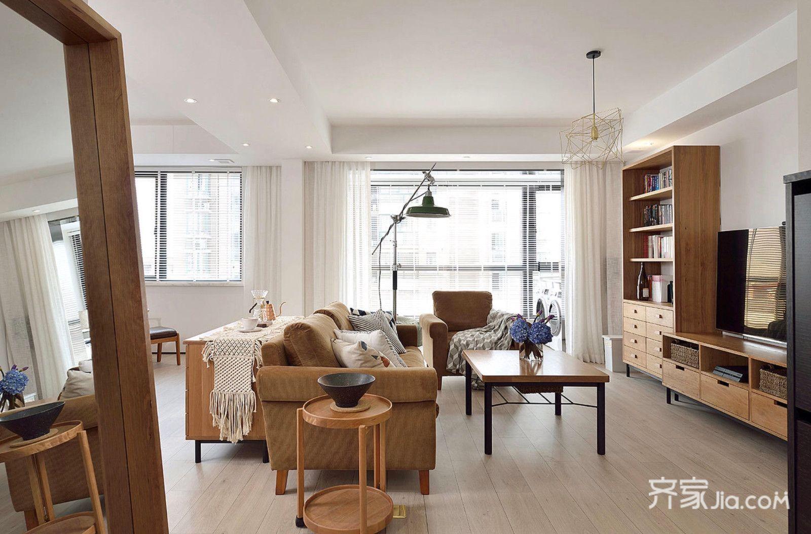 150平简约三居室装修电视柜设计图