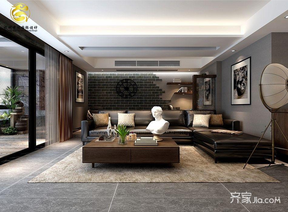 大户型后现代主义装修沙发背景墙效果图