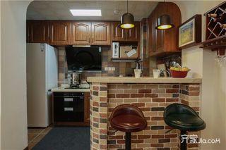 美式乡村风格三居装修吧台设计