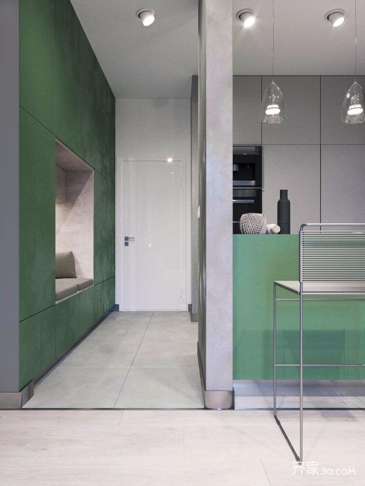 小户型北欧风公寓装修玄关效果图