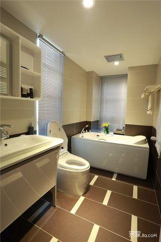 120㎡简约北欧风装修浴缸设计