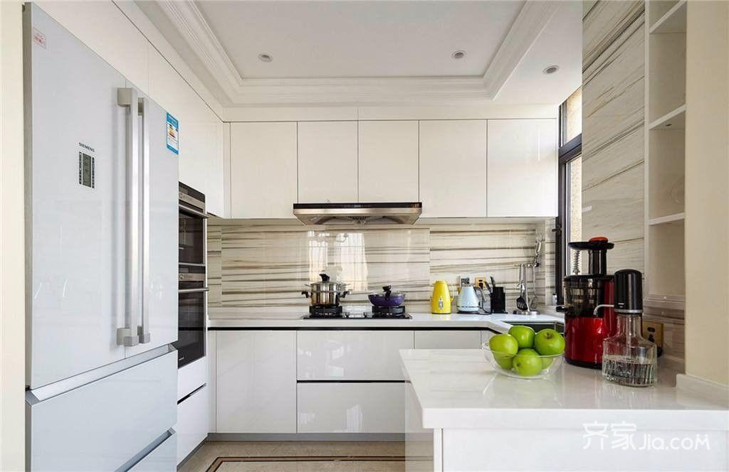 美式大户型复式装修厨房设计图