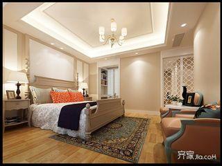 美式大户型复式装修卧室搭配图