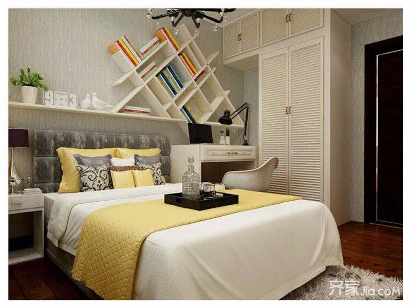 现代简约两居之家卧室装修效果图