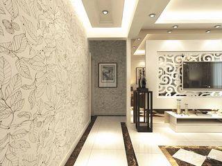 130平现代风格装修电视背景墙效果图