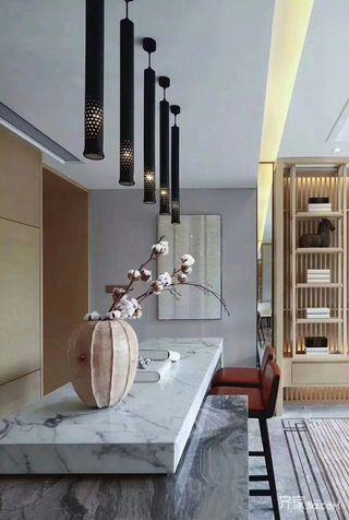 新中式别墅装修吧台设计效果图