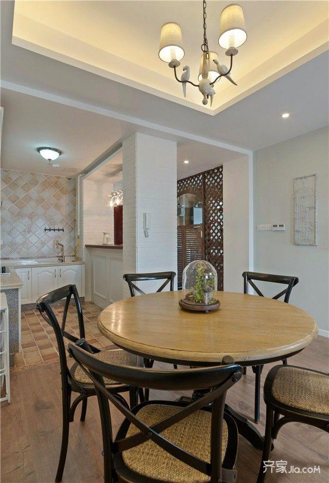 118平清新美式风装修餐桌椅图片
