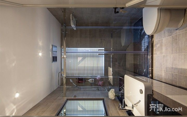 现代简约三居之家卫生间装修效果图