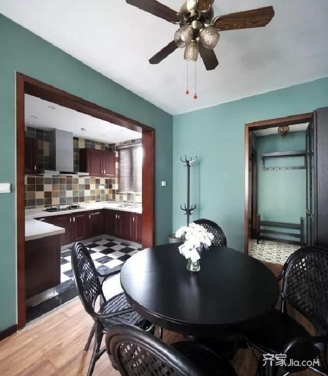 80㎡混搭风格家餐桌图片