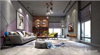 loft别墅装修客厅效果图