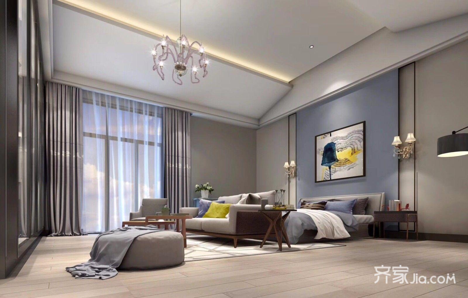 loft别墅装修卧室设计图